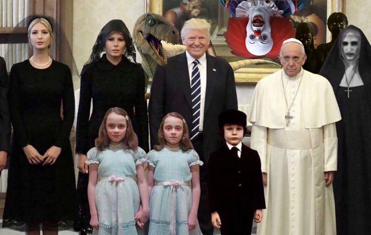 062 even more friends behind trump and pope francis the trumps meet,Pope Francis Trump Meme