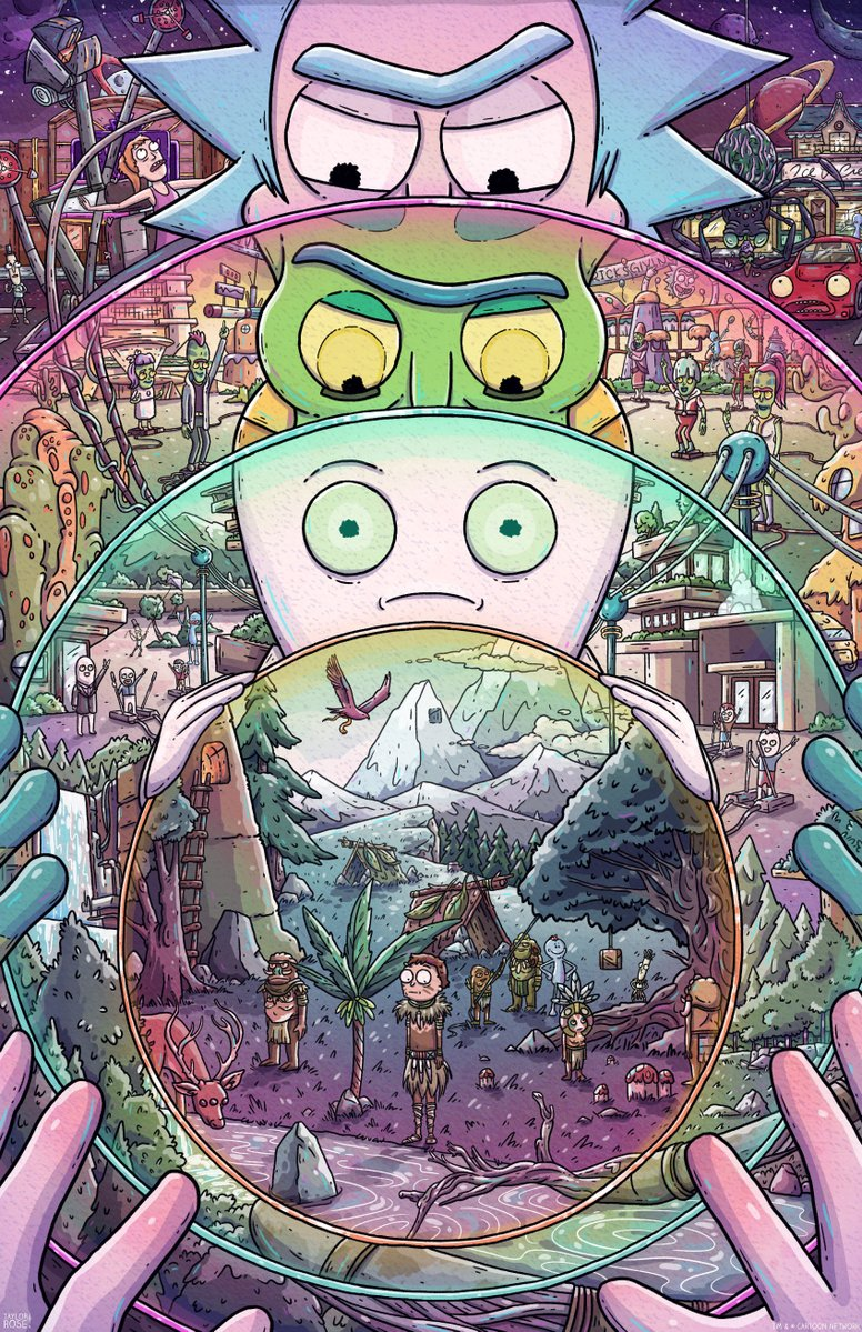 Taylor rose the ricks must be crazy 3rd edition print - Evil morty wallpaper 4k ...