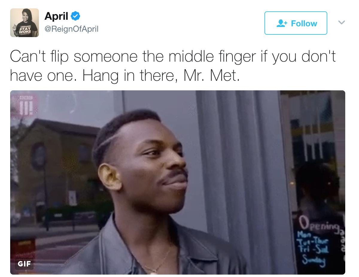 fb7 roll safe mr met's middle finger know your meme