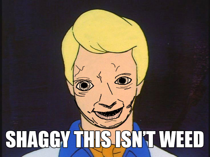 b08 shaggy this isn't weed scooby doo know your meme