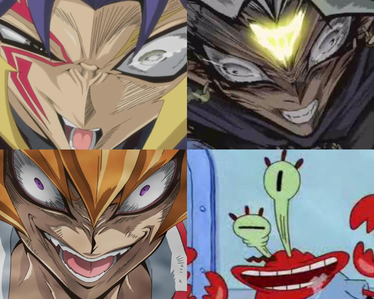 anime girl face Crazy