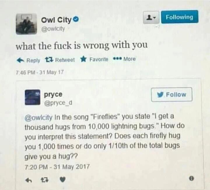 381 owl city has had enough fireflies know your meme
