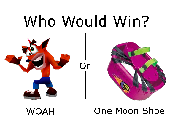 583 woah vs moon shoe crash bandicoot \