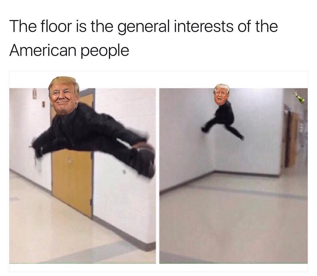 Donald trump the floor is know your meme for Floor is lava meme