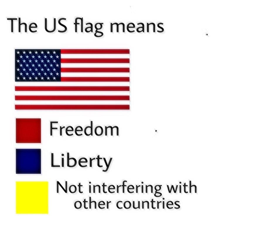 United States | Flag Color Representation Parodies | Know Your Meme