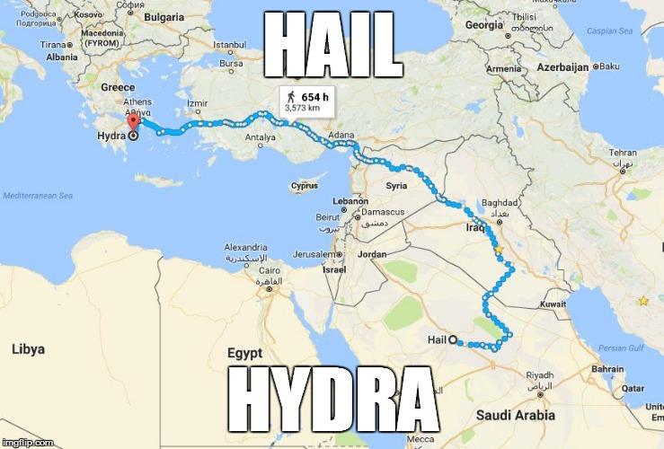 Hail hydra google maps parodies know your meme hail bulgaria georgia acedoni caspian sea tiranae fyrom stanbul albania bursa 0 enia azerbaijan gumiabroncs Choice Image