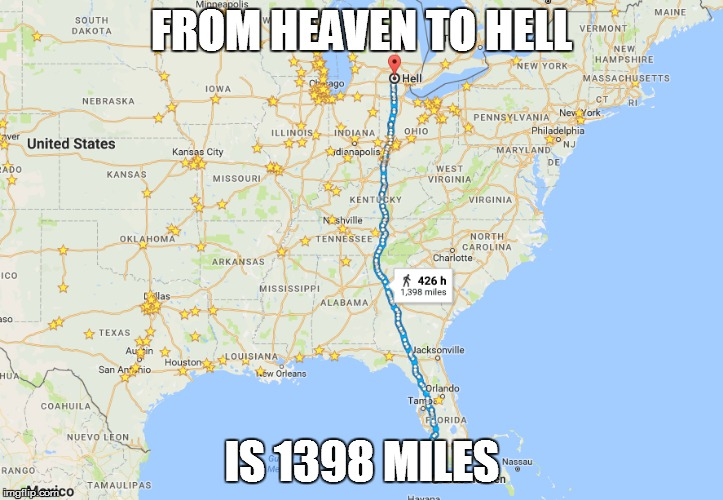 From Heaven To Hell Is Miles Google Maps Parodies Know - Google maps maine