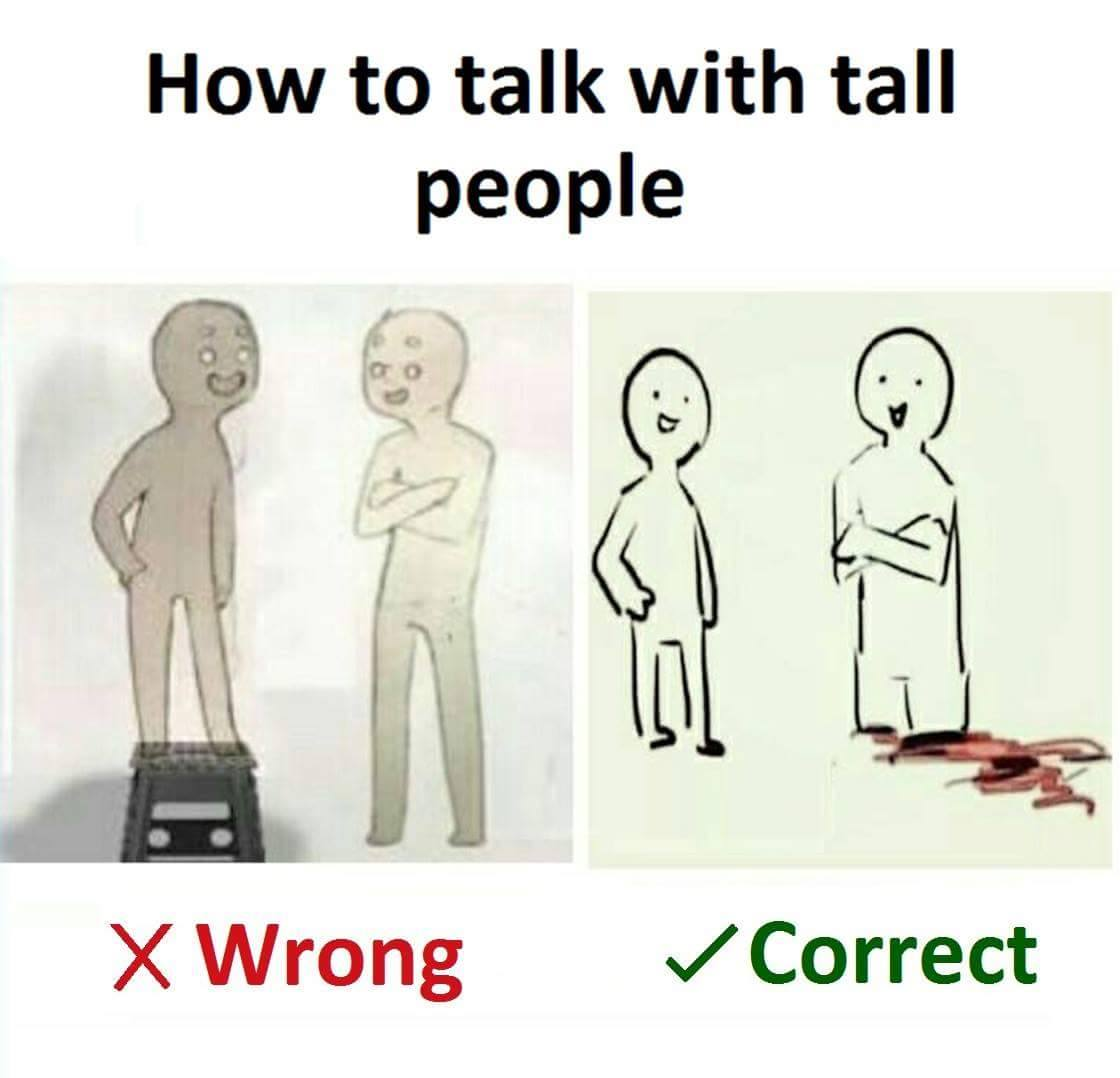 Tall people problems meme