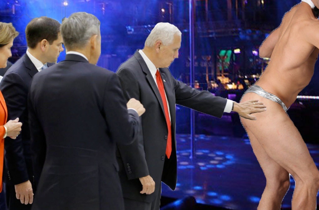 dfa inspecting the goods mike pence \