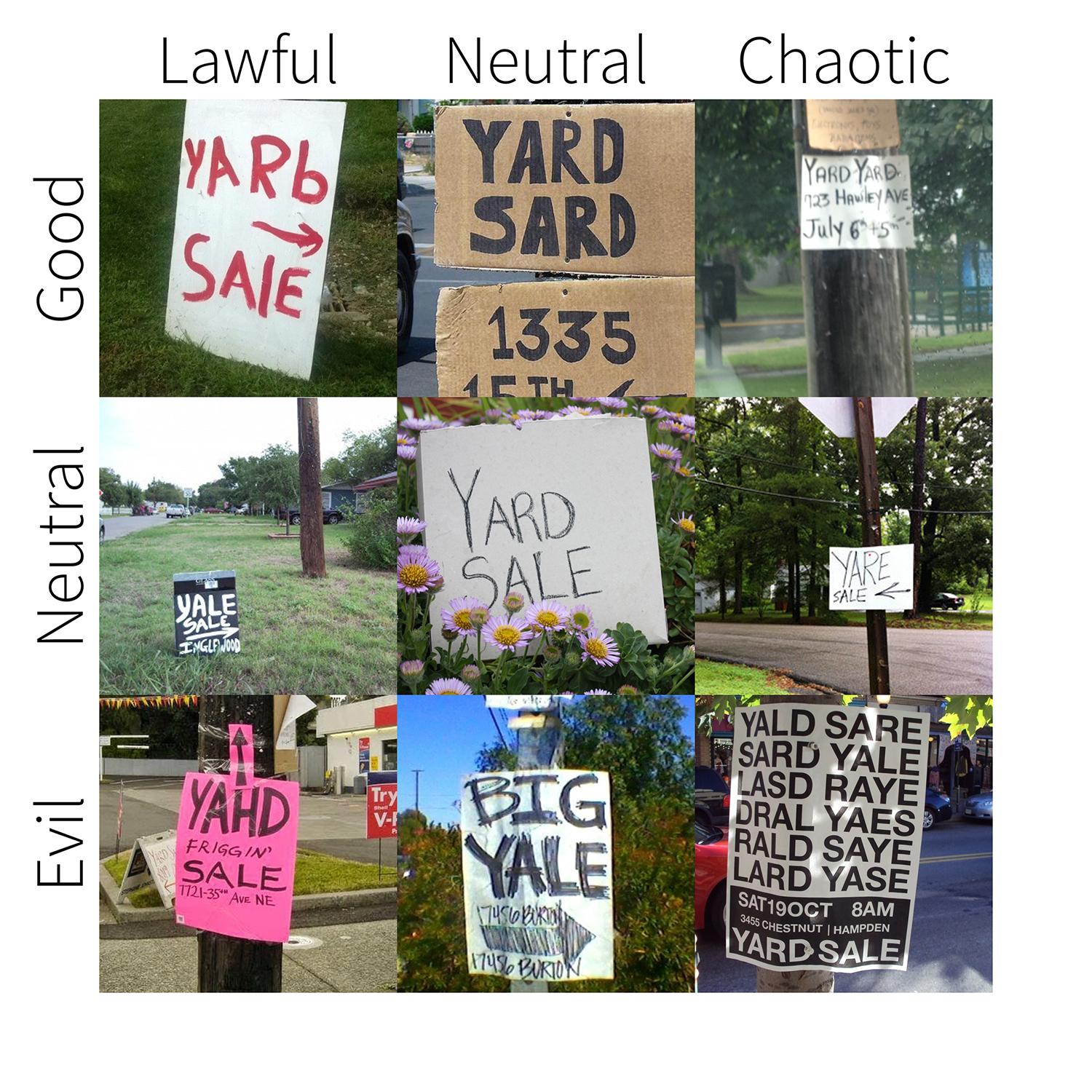 garage sale signs for sale