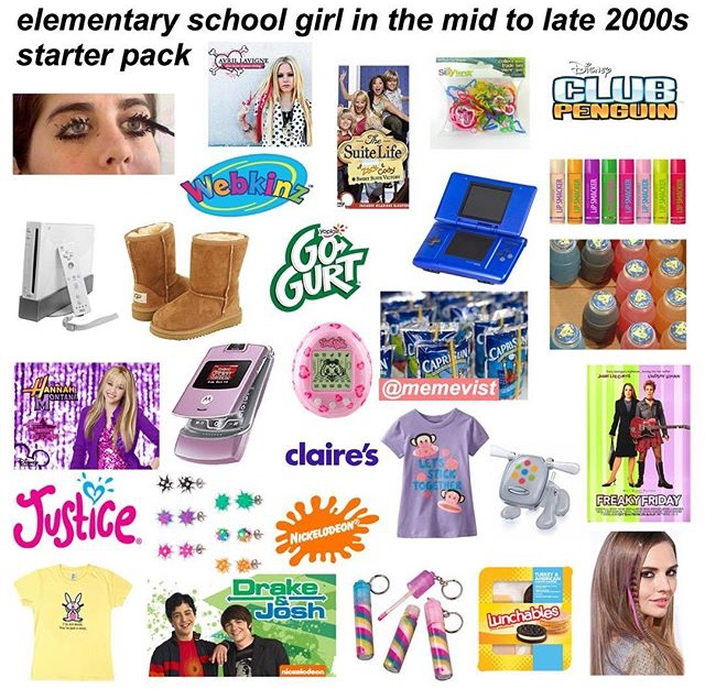 8a6 mid to late 2000s elementary school girl starter packs know