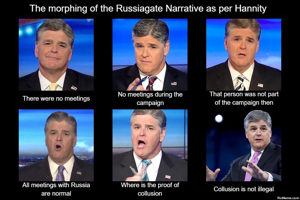 182 the evolution of sean hannity russiagate know your meme