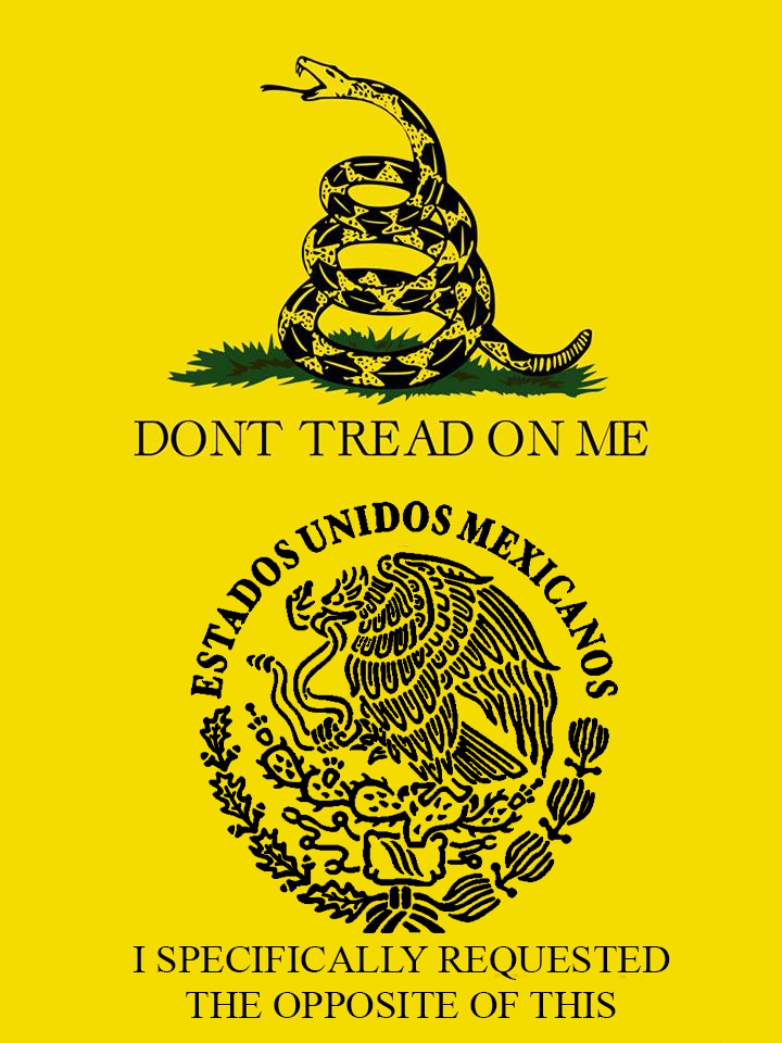 don u0026 39 t tread on me mexican coat of arms