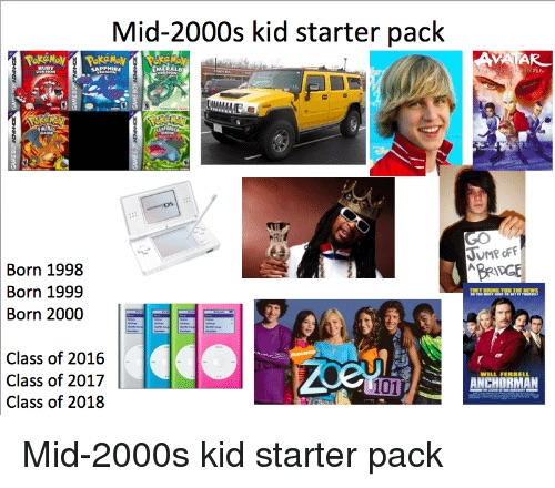 bbf mid 2000s kid starter packs know your meme