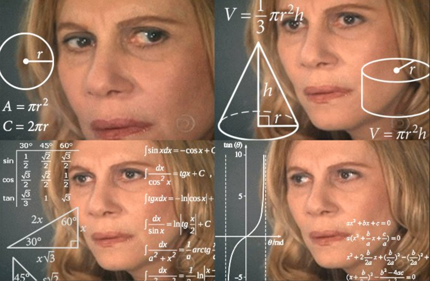 630 confused blonde lady math lady template math lady confused