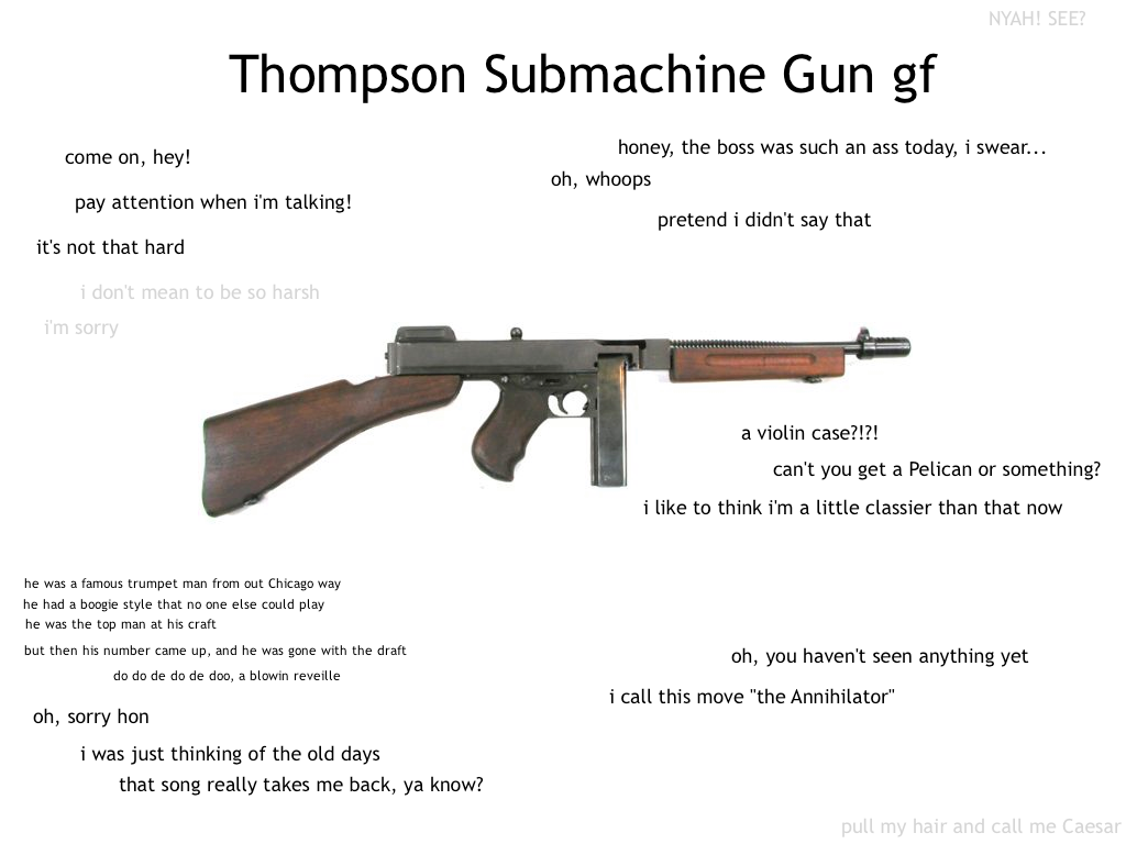 Tompson SMG GF | Ideal GF | Know Your Meme