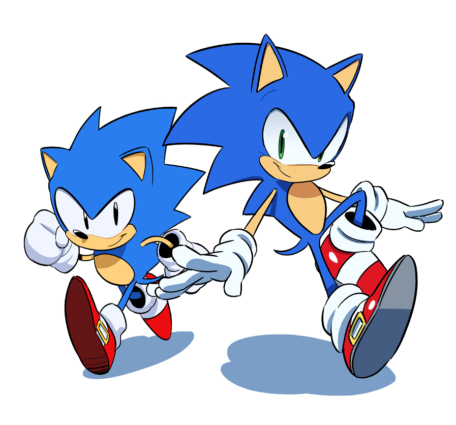 Classic And Modern Sonic By Tyson Hesse