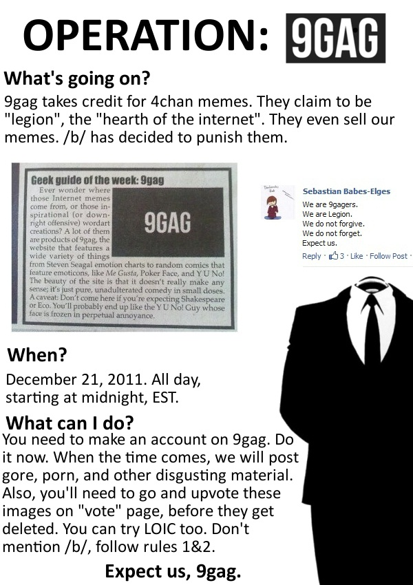 Operation 9gag 9gag know your meme 9 9gag takes credit for 4chan memes they claim to be 5 memes gumiabroncs Choice Image