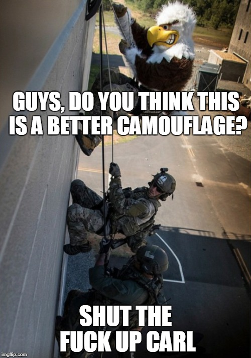 503 eagle camouflage shut the fuck up, carl know your meme