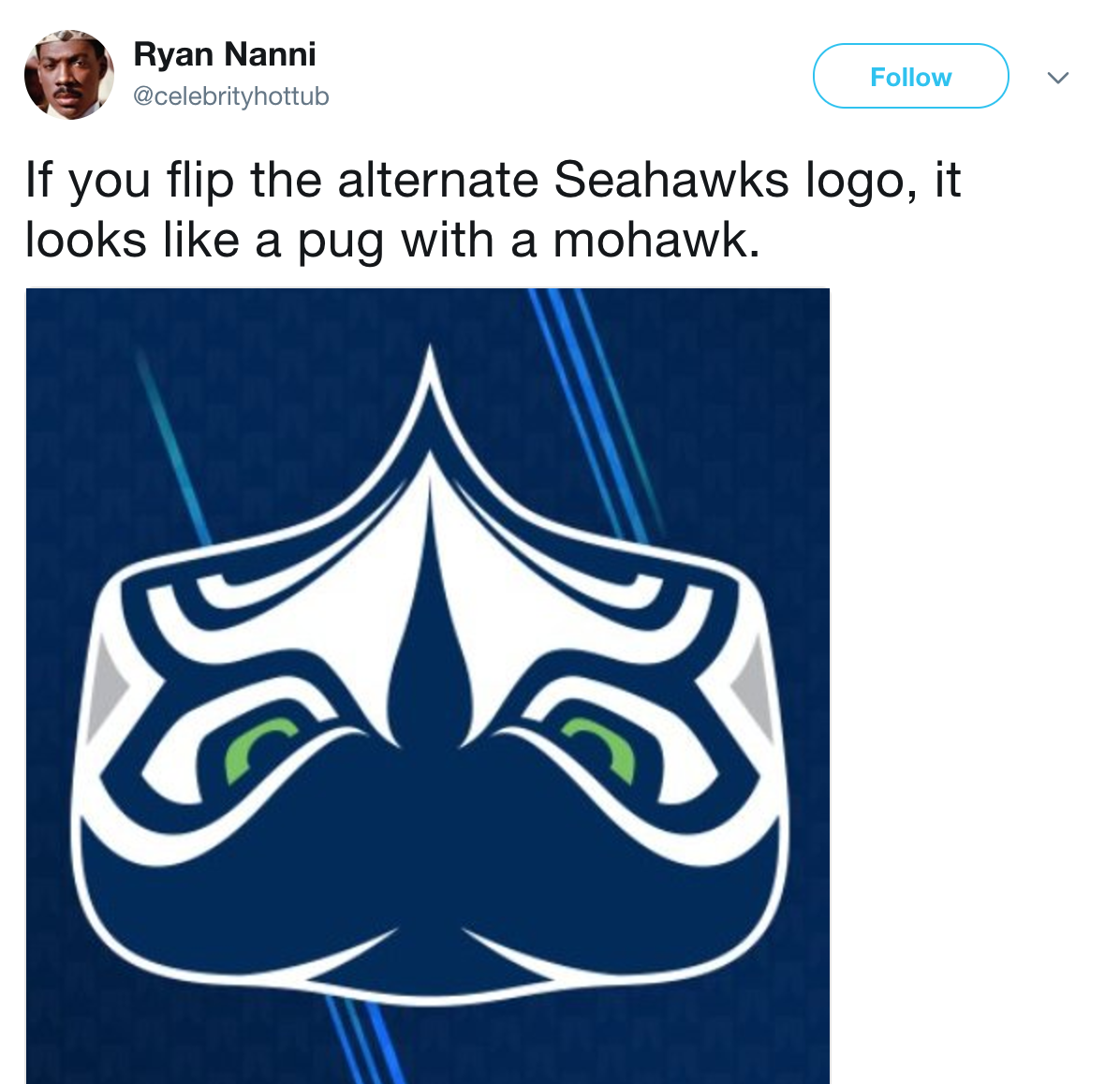 47d pug with a mohawk seattle seahawks logo know your meme
