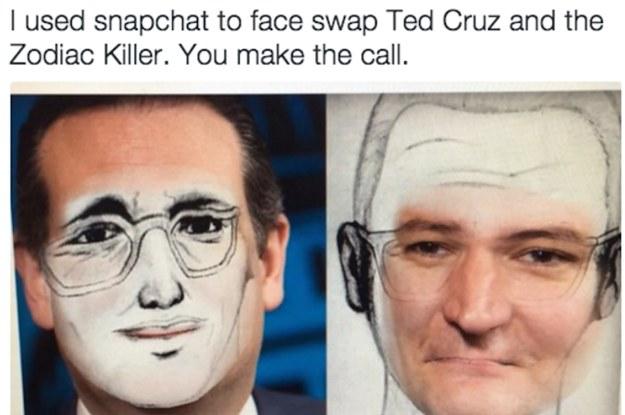f28 face swap ted cruz zodiac killer know your meme