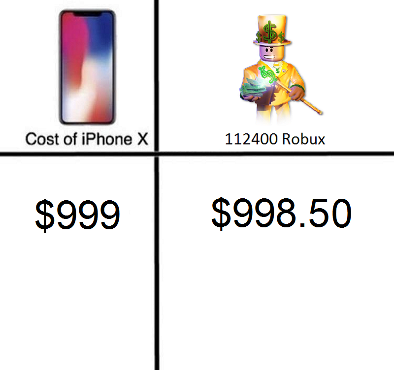 fc4 robux iphone x price comparisons know your meme