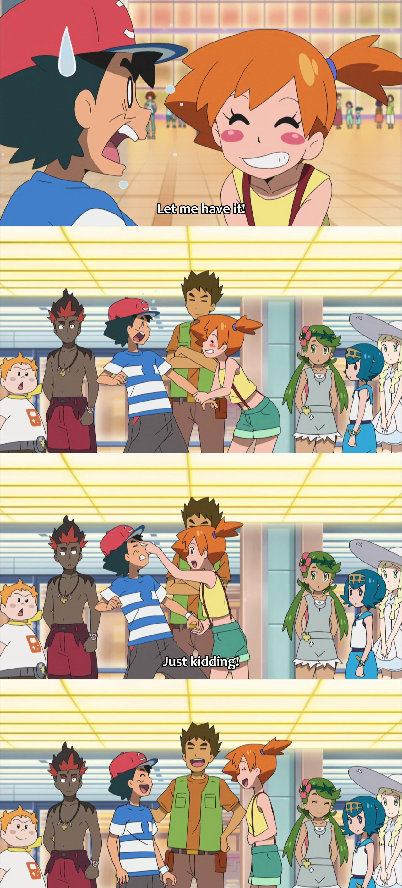 misty messing with ash pokémon sun and moon know your meme