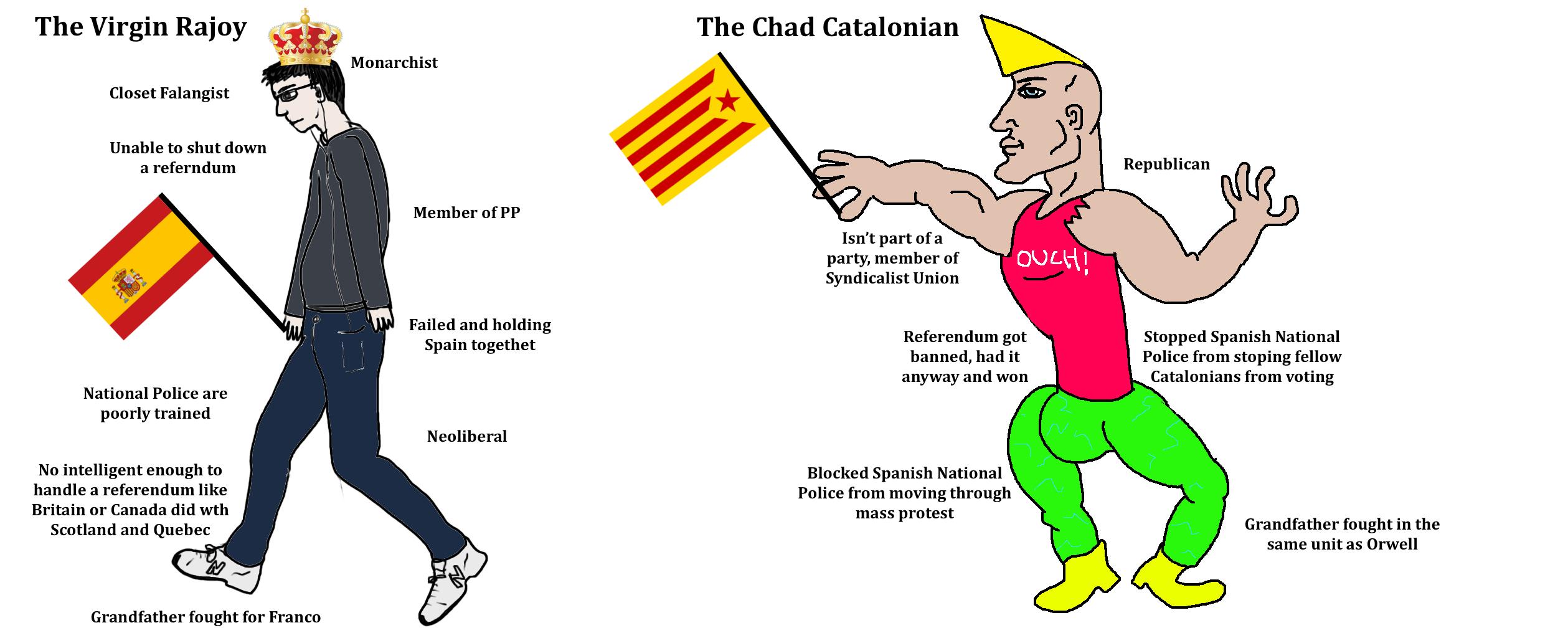 Chad Catalonian   Virgin Walk   Know Your Meme