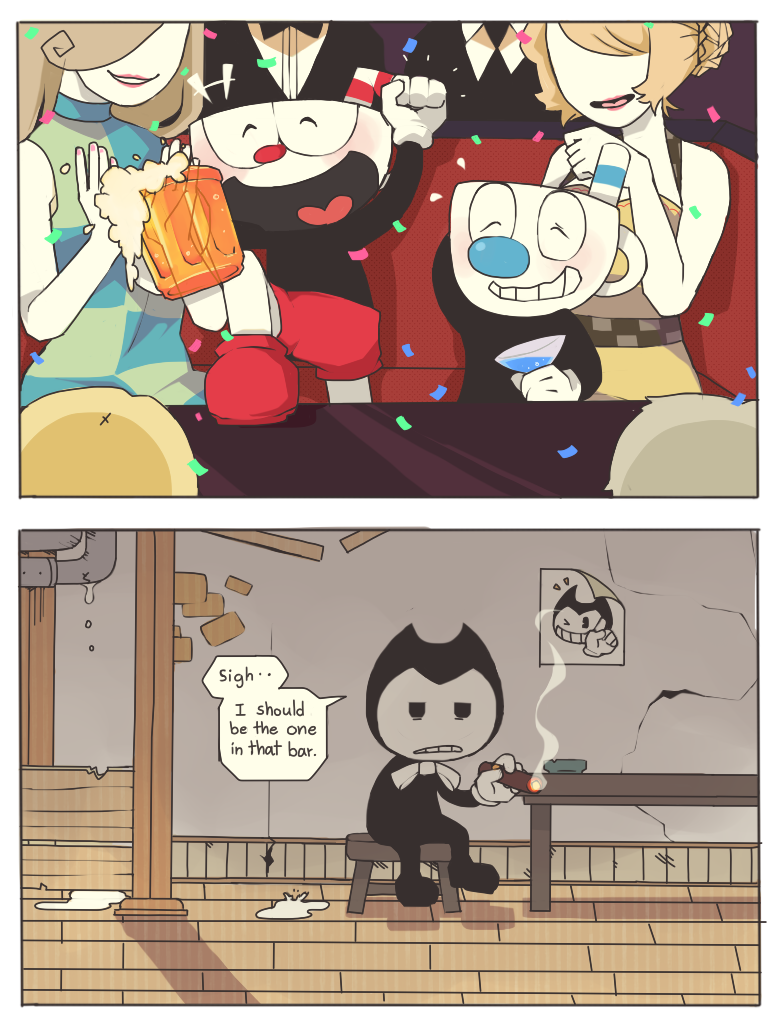 Better Luck Next Time Bendy Cuphead Know Your Meme