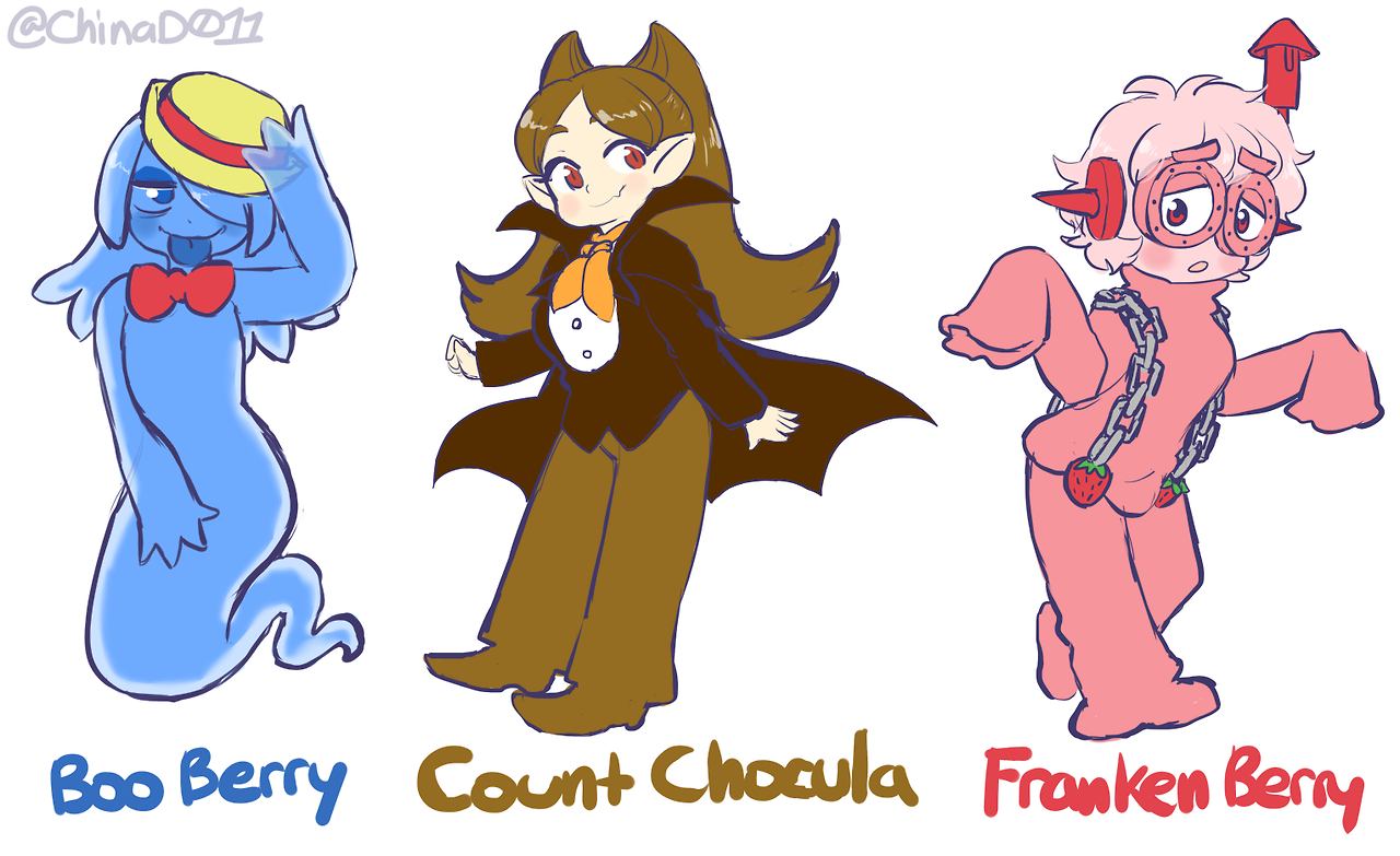 boo berry count chocula and franken berry but they u0027re cute girls