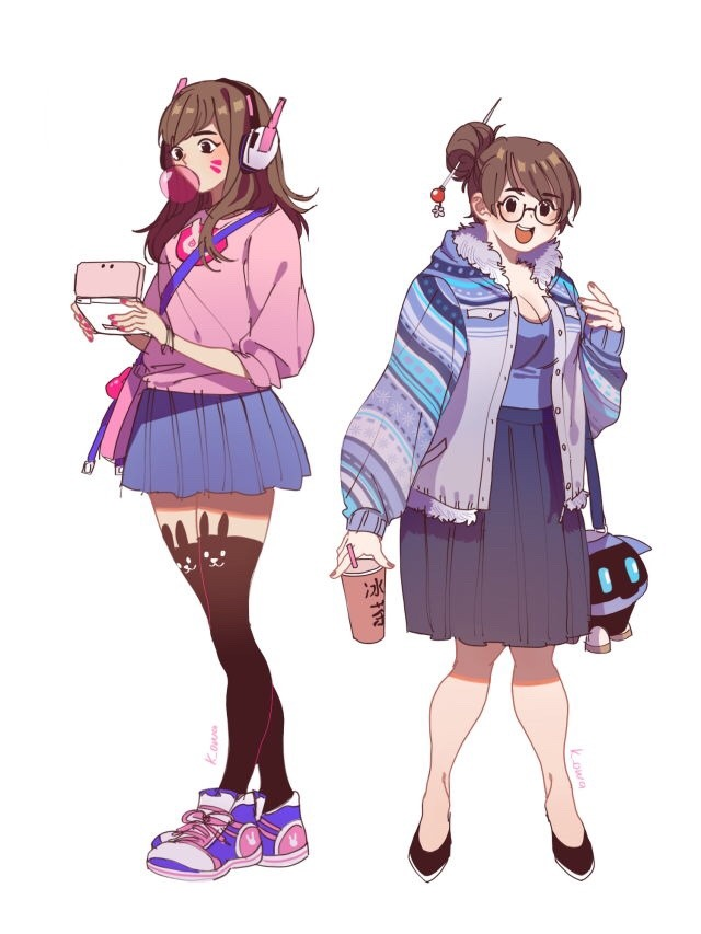 casual d va and mei overwatch know your meme