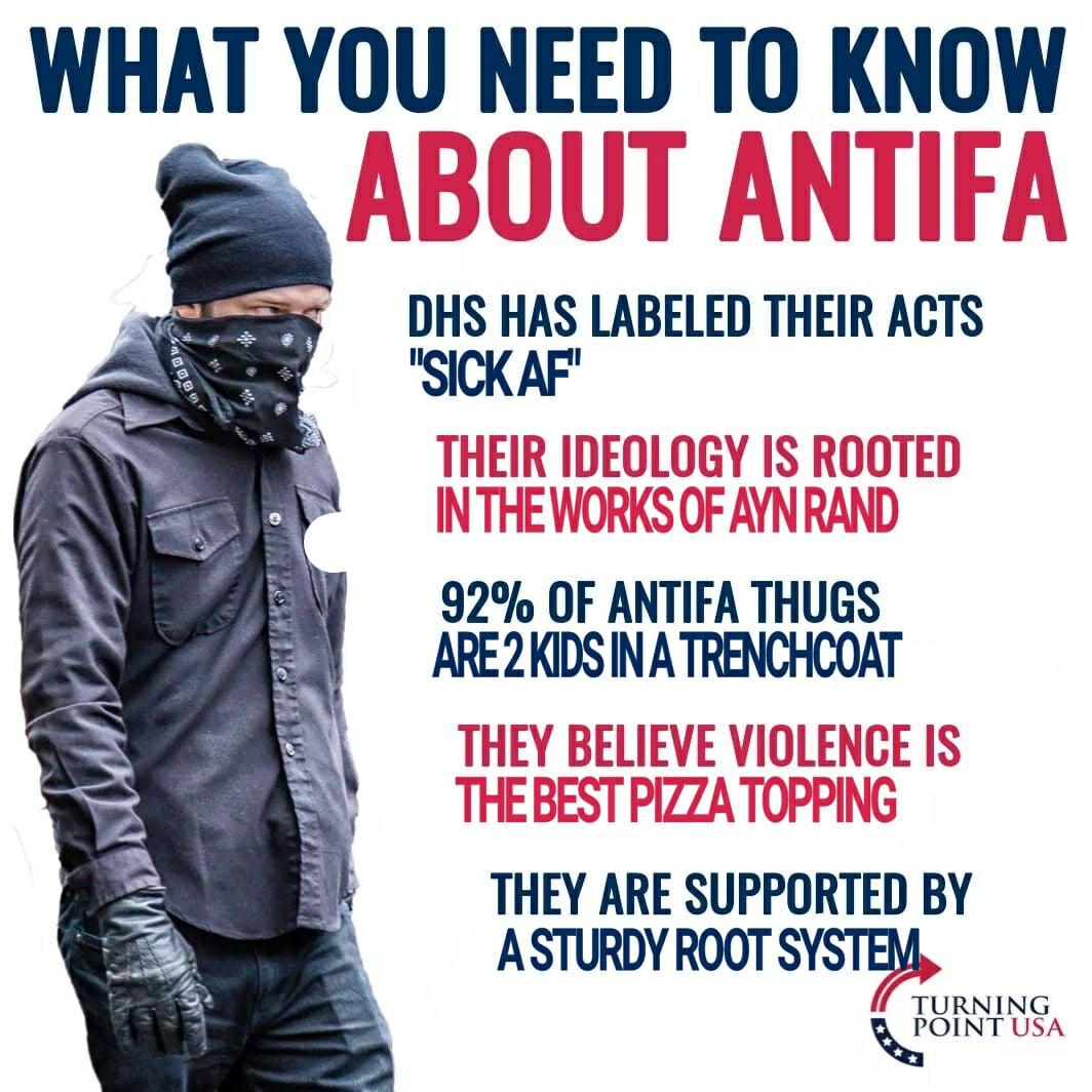 060 antifa fact sheet turning point usa know your meme