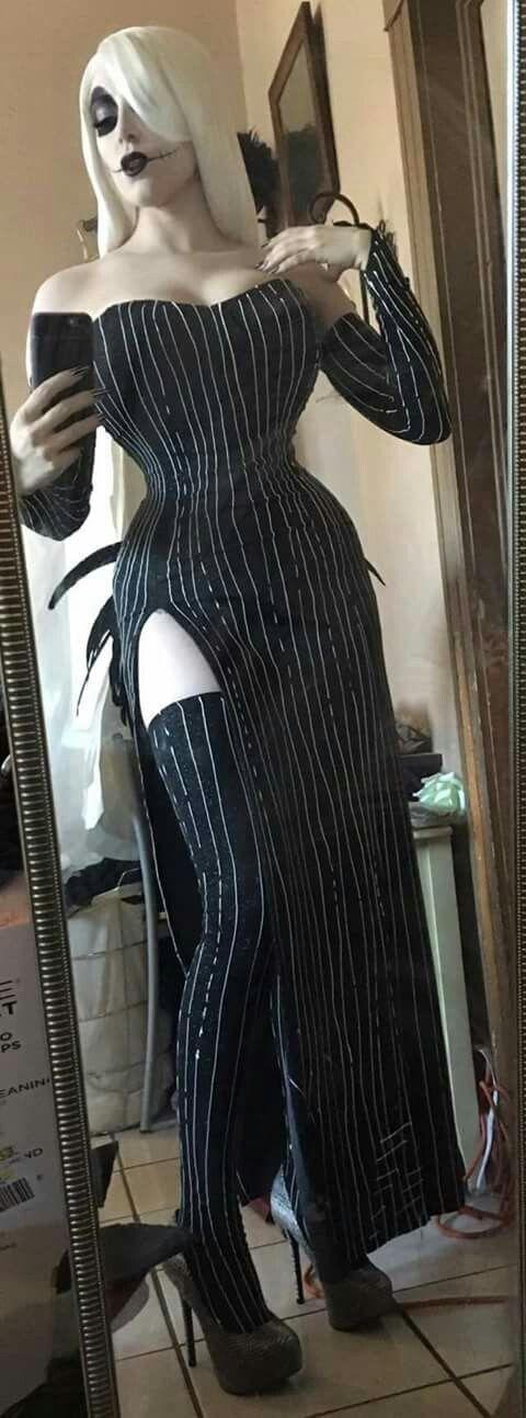 Adult Lady Jack Skellington Costume Nightmare Before Christmas