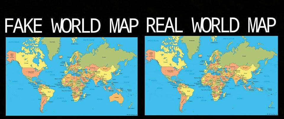 Fake mapreal map australia is not real know your meme fake world map real world map australia text map world gumiabroncs Images