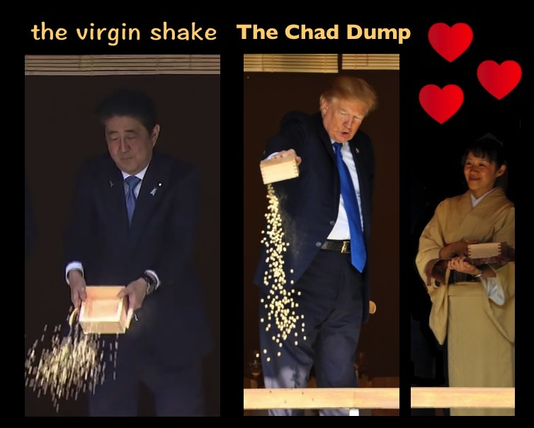 The virgin shake vs the chad dump donald trump feeding for Trump feeding fish