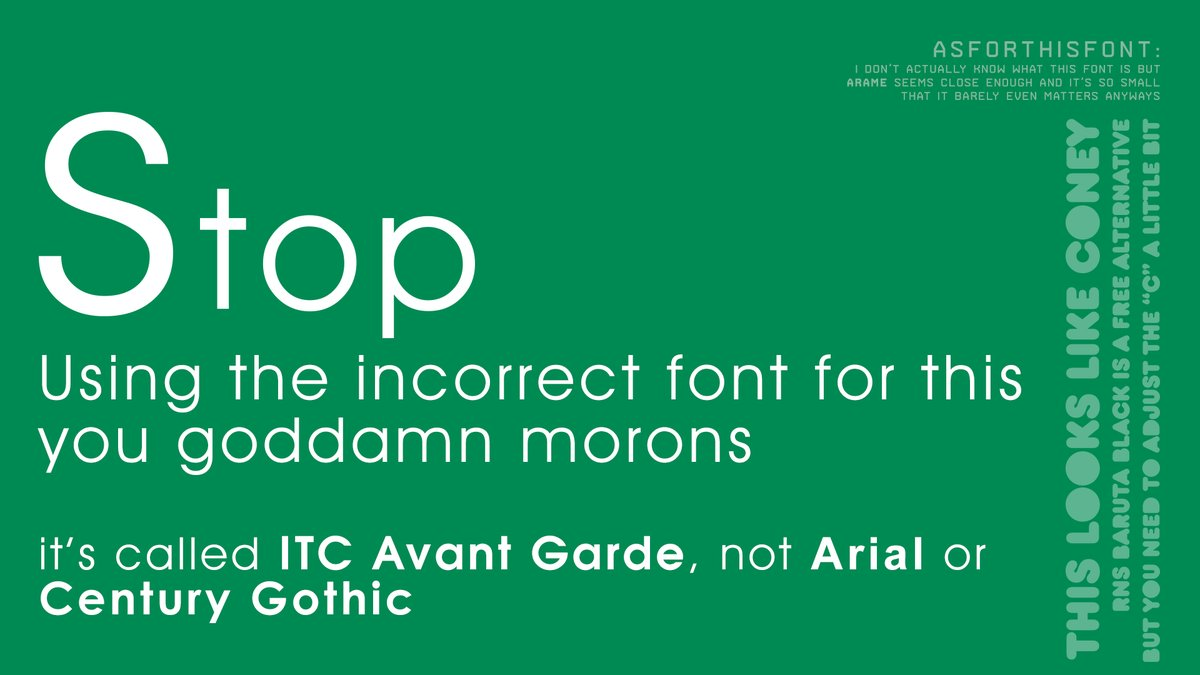 a9e how to properly implement a correct font \
