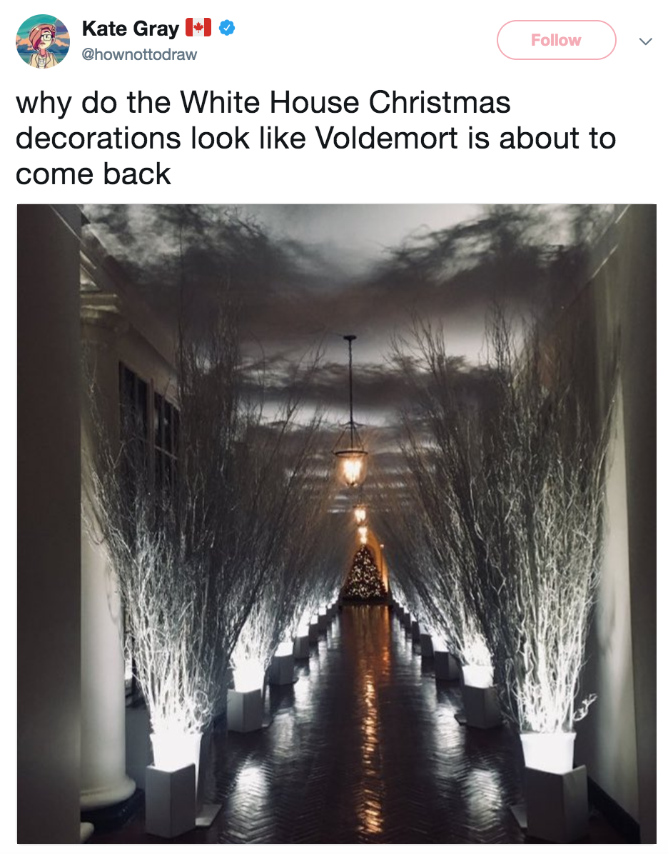 Voldemort Melania Trump 39 S Christmas Decorations Know