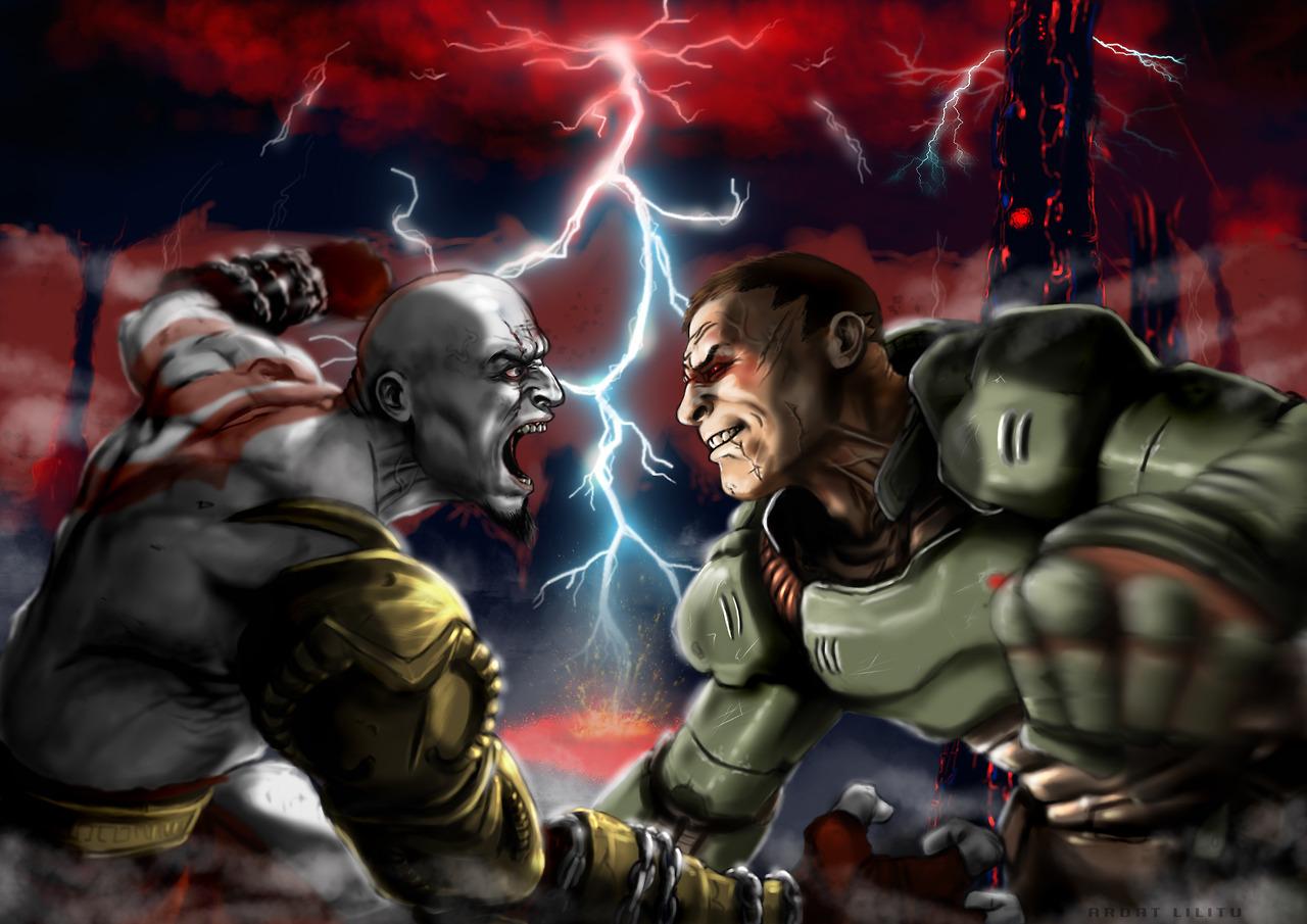 Slobodan Praljak Video >> Kratos vs Doom Slayer | Crossover | Know Your Meme