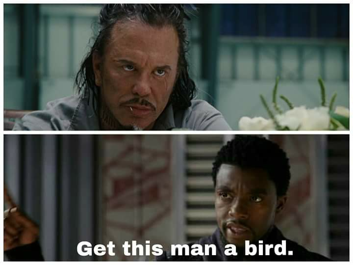 Funny Meme Black Panther : Get this man a bird! get this man a shield! know your meme