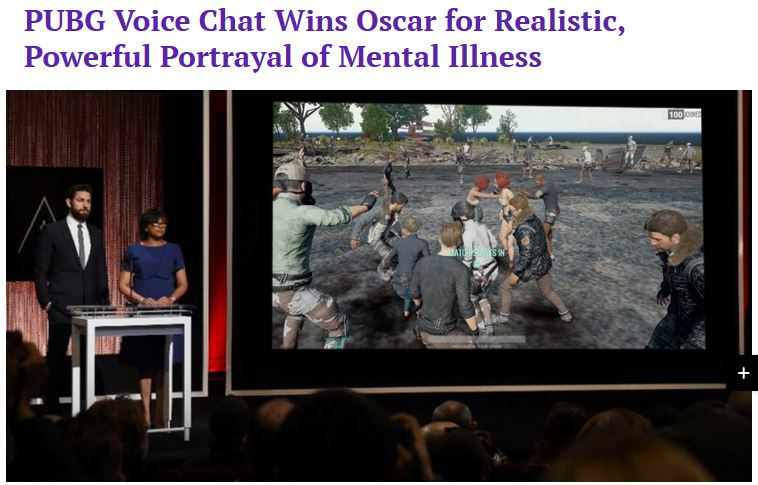 Funny Memes About Mental Illness : Pubg voice chat wins oscar for realistic powerful portrayal of