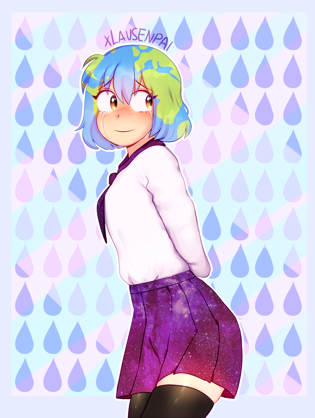 Earth-Chan by Lausenpai | Earth-chan | Know Your Meme
