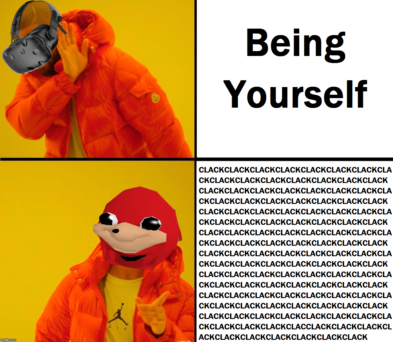 clackclack ugandan knuckles know your meme