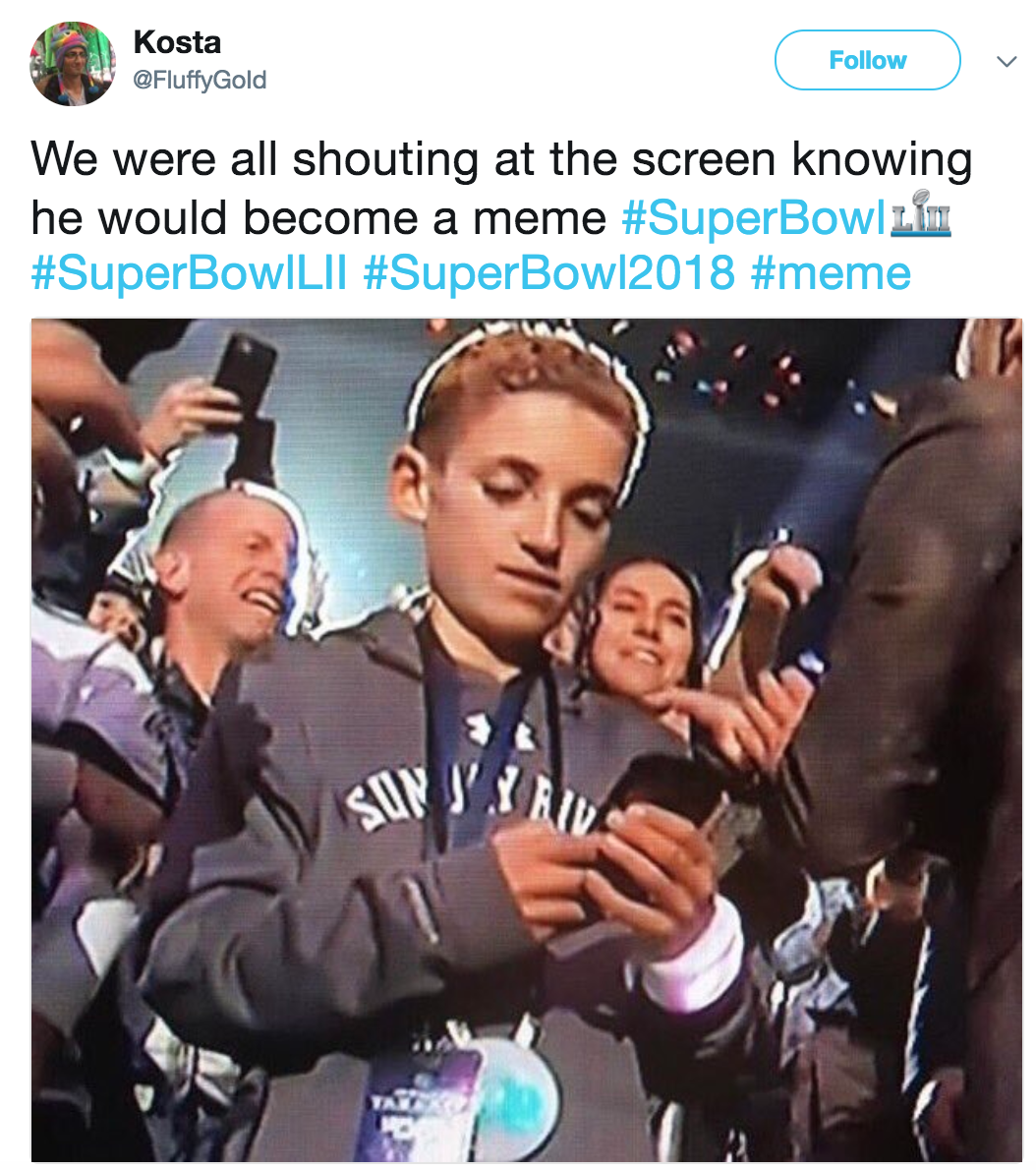 5bf justin timberlake's super bowl halftime show selfie kid know your meme