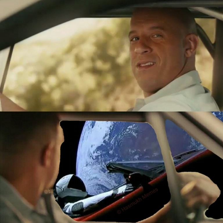 4b7 it's been a long day without you, my friend spacex know your meme