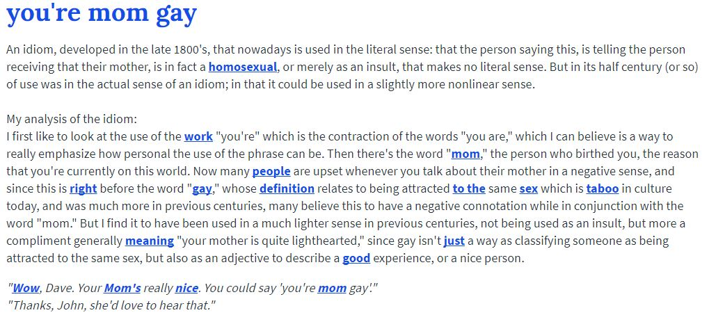 678 urban dictionary definition you're mom gay know your meme