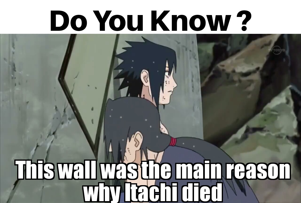 a82 itachi's death because of wall naruto wonder of konoha