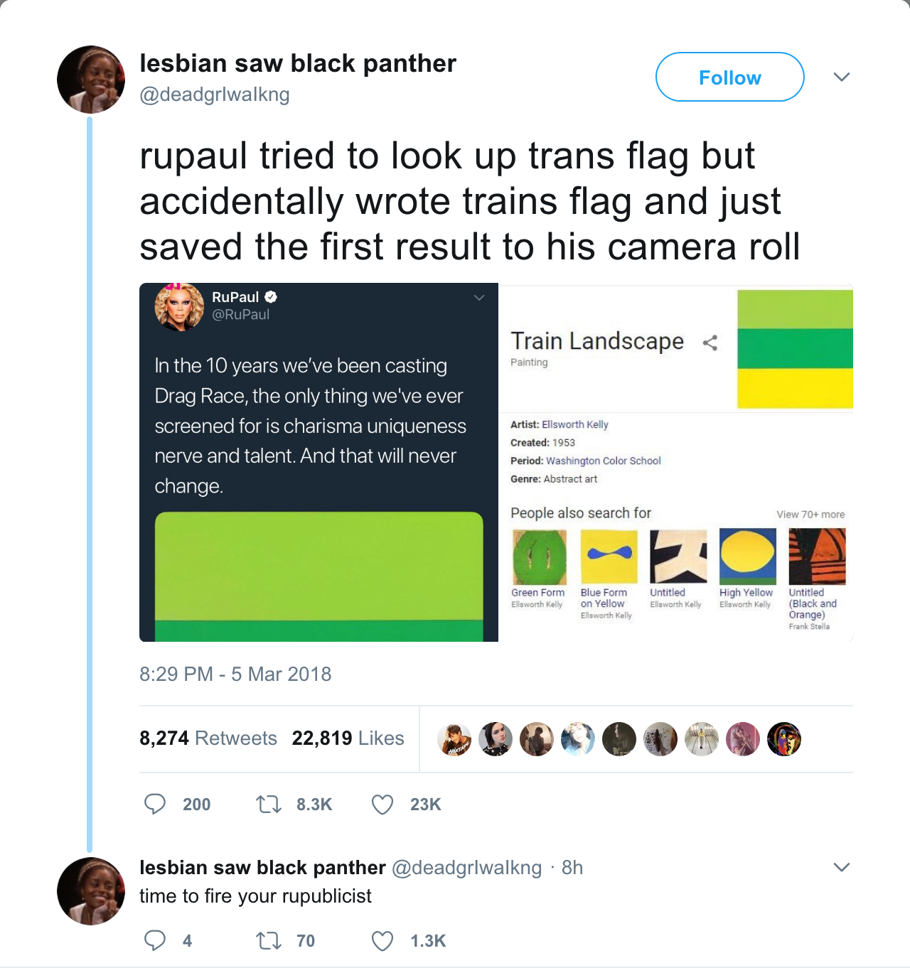 The (Now Deleted) Tweet Calling Out PuPaul\'s Trans/Train Tweet ...