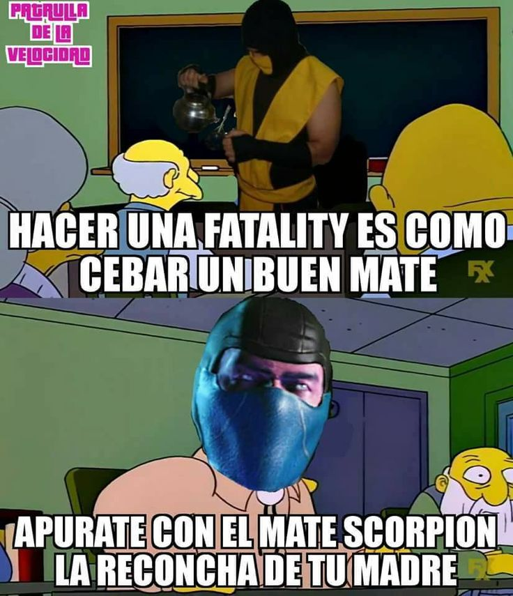 aec doing a fatality is like pouring a good mate scorpion cebando