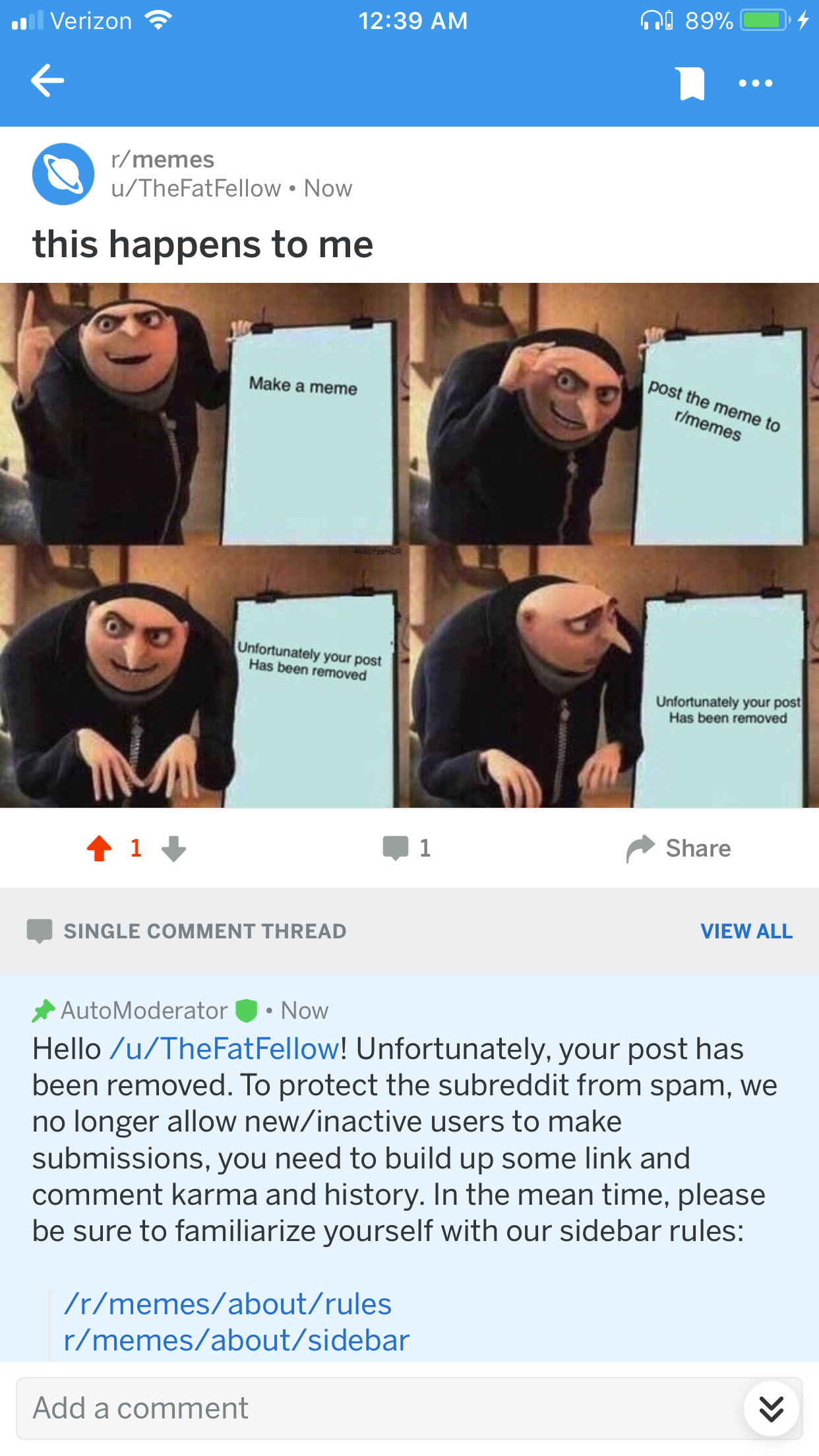 8bc posting to r memes gru's plan know your meme