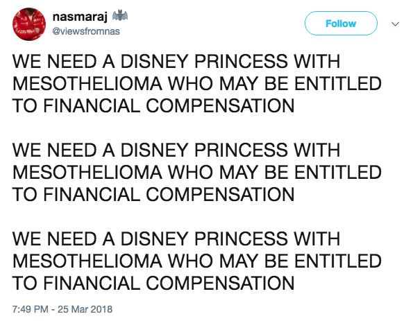 Mesothelioma | We Need a Disney Princess | Know Your Meme